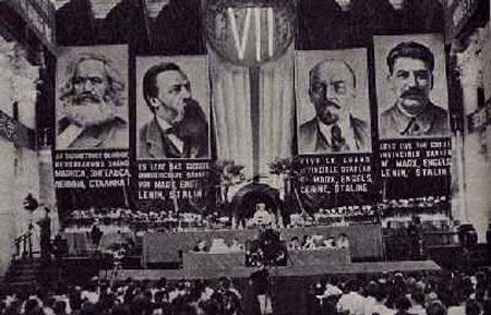 Le VIIe congrès de l'Internationale Communiste