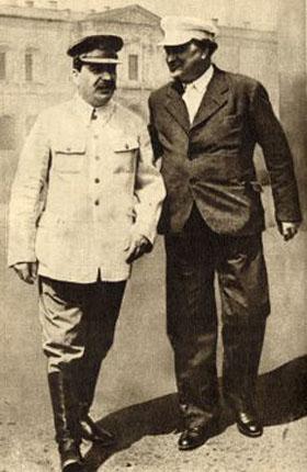 Staline et Georgi Dimitrov