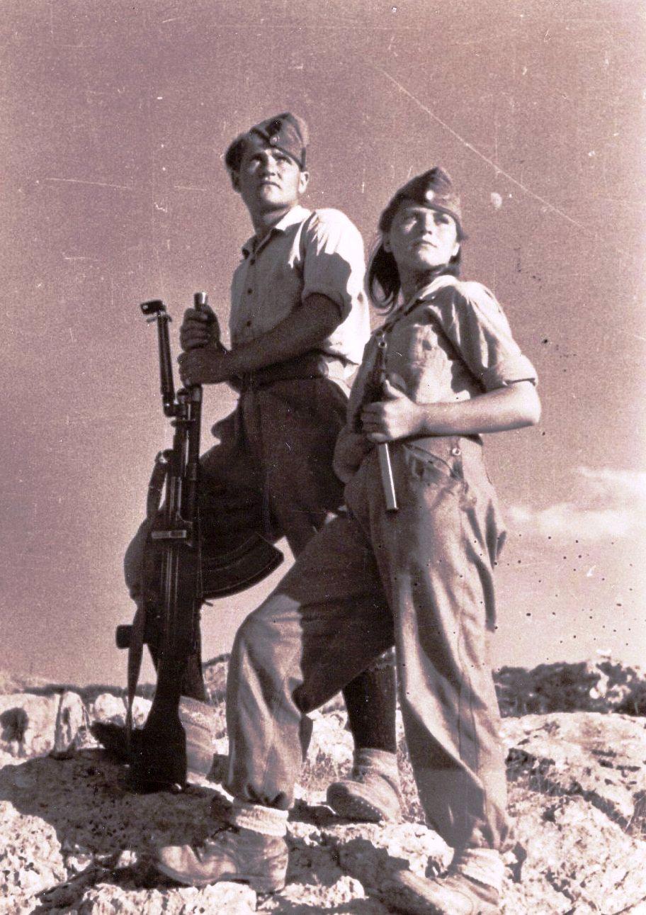 Soldats de la DSE en Grèce