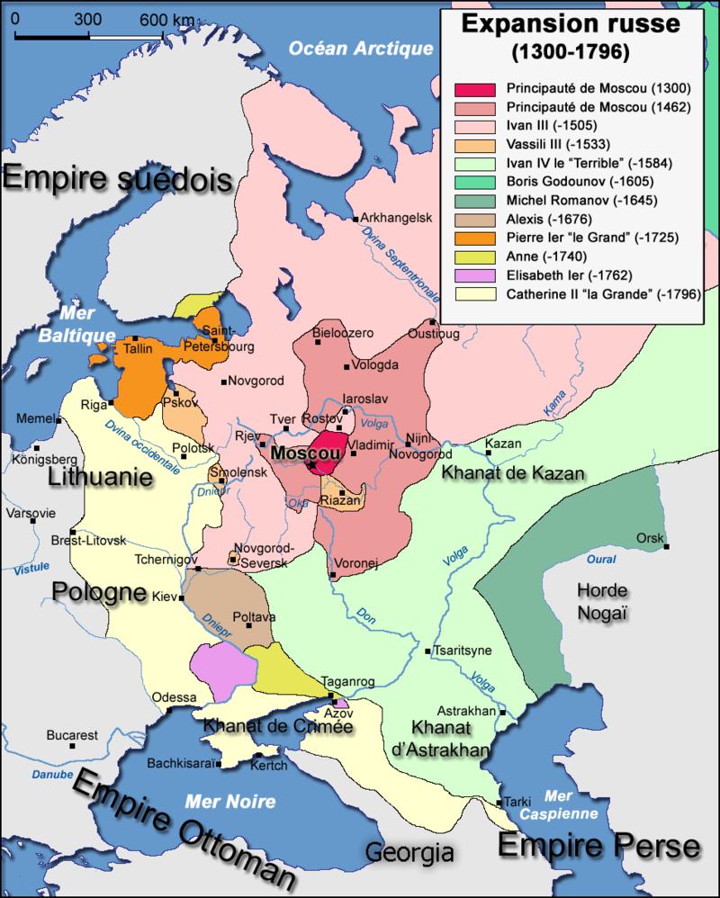 L'expansion russe depuis Moscou, 1300 - 1796