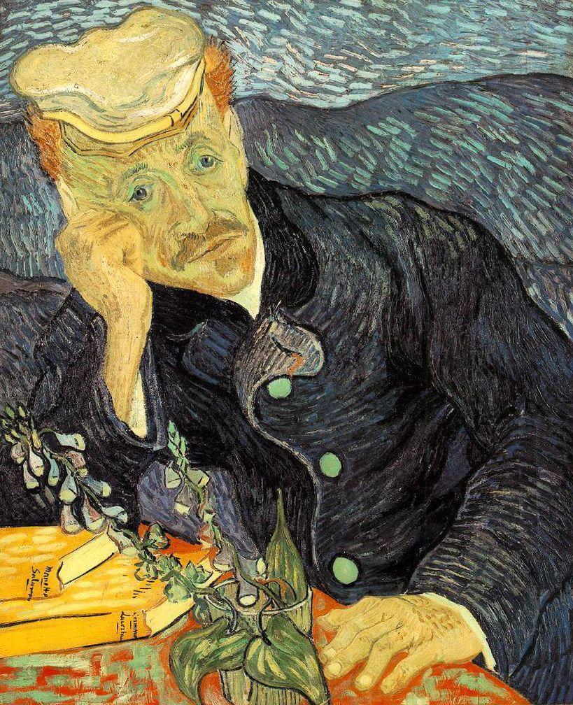 Van Gogh, Portrait du Dr Gachet avec branche de digitale